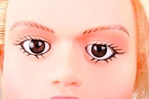 Wunderschöne braune Augen von Sexpuppe Mary